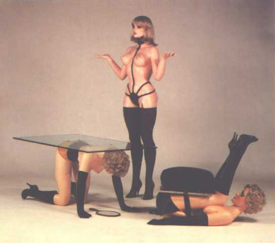 Human Furniture (table, chair, ashtray stand...)